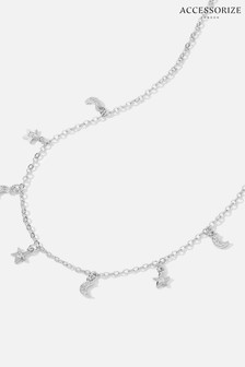 Accessorize Silver Platinum-Plated Celestial Charm Necklace