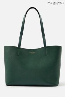 Accessorize Green Leo Tote Bag