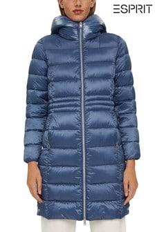 Esprit Blue Long Line Padded Coat