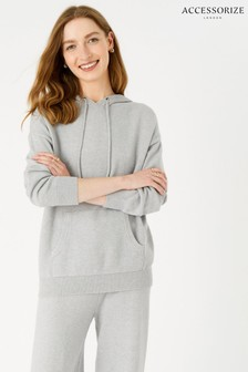 Accessorize Grey Lounge Knit Hoodie