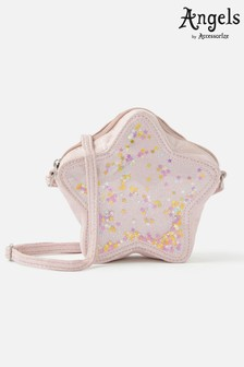 Angels by Accessorize Pink Star Sequin Cross-Body Bag