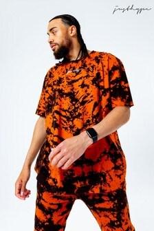 Hype. Mens Black Tie Dye Oversized T-Shirt