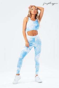 Hype. Womens Blue Cloud Leggings