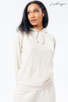Hype. Cream Knitted Hoodie