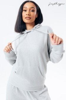 Hype. Grey Knitted Hoodie