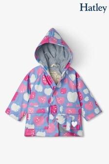 Hatley Purple Stamped Apples Baby Raincoat