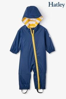 Hatley Yellow Navy Terry Lined Baby Bundler