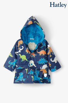 Hatley Blue Linework Dinos Colour Changing Baby Raincoat