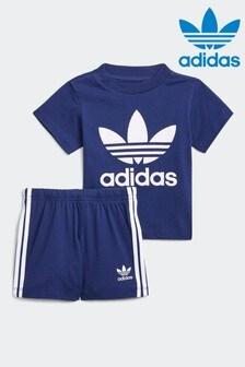 adidas Trefoil Shorts Tee Set