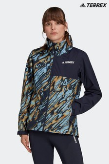 adidas Blue Terrex Multi RAIN.RDY Primegreen 2L Rain Jacket