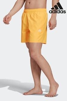 adidas Yellow Solid Swim Shorts