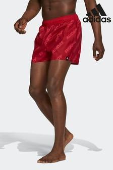 adidas Red Wording Swim Shorts