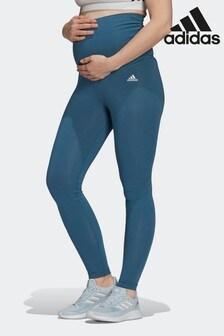 adidas Purple Essentials Cotton Leggings (Maternity)