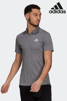adidas Grey HEAT.RDY Tennis Polo Shirt