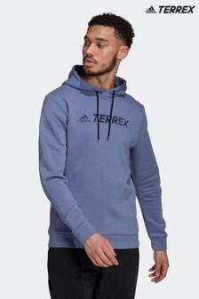 adidas Purple Terrex Graphic Logo Hoodie