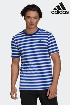 adidas Essentials Stripey Embroidered Logo T-Shirt
