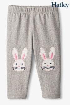 Hatley Grey Bunnies Cozy Baby Leggings