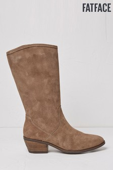 FatFace Brown Lola Suede Western Boots
