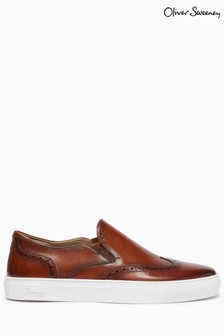 Oliver Sweeney Calf Leather Slip-On Trainers