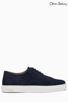 Oliver Sweeney Burwell Suede Brogue Trainers