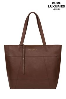 Pure Luxuries London Arundel Ombre Chestnut Leather Tote Bag