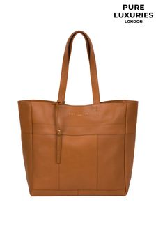 Pure Luxuries London Saddle Tan Ripley Leather Tote Bag