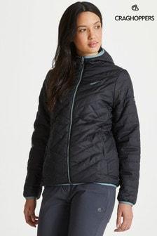 Craghoppers Black Compresslite V Hooded Jacket