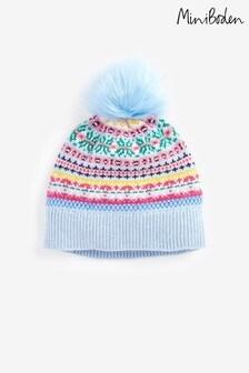 Boden Blue Fair Isle Hat