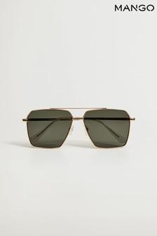 Mango Natural Go Metallic Frame Sunglasses