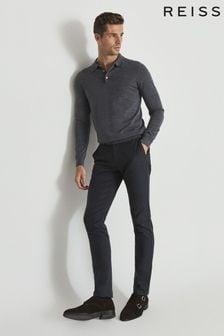 Reiss Trafford Merino Wool Polo Shirt