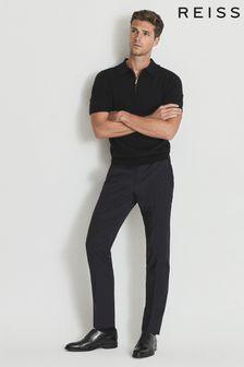 Reiss Maxwell Merino Zip Neck Polo Shirt