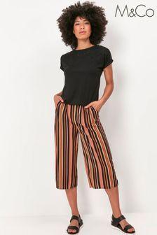 M&Co Orange Stripe Culotte Trousers
