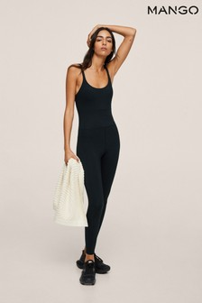 Mango Fitted Sports Jumpsuit