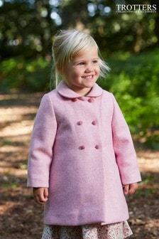 Trotters London Pink Classic Coat