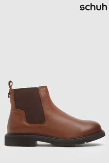 Schuh Brown Carmella Leather Chelsea Boots