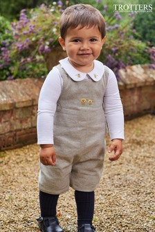 Trotters London Natural Archie Romper