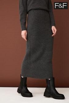 F&F Grey Rib Sid Skirt