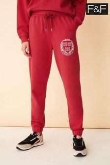 F&F Red Harvard Joggers