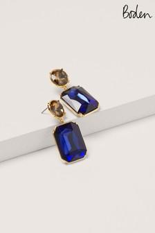 Boden Navy Jewelled Drop Earrings