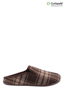 Cotswold Brown Syde Slippers