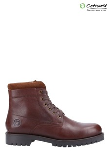 Cotswold Brown Thorsbury Lace-Up Shoe Boots