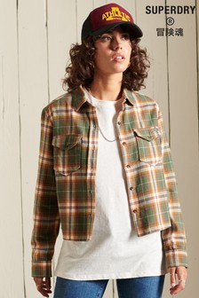 Superdry Organic Cotton Heritage Check Cropped Shirt