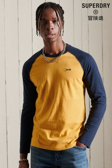 Superdry Organic Cotton Vintage Baseball Long Sleeved Top