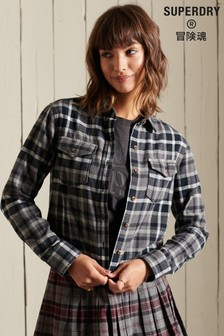 Superdry Heritage Check Cropped Shirt