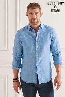 Superdry Organic Cotton Linen Long Sleeved Shirt