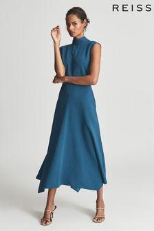 Reiss Livvy Open Back Midi Dress