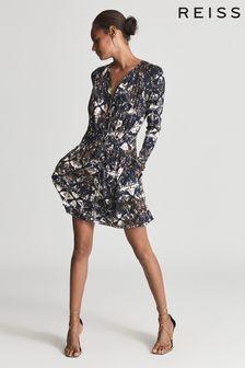 Reiss Antonia Printed Jersey Dress