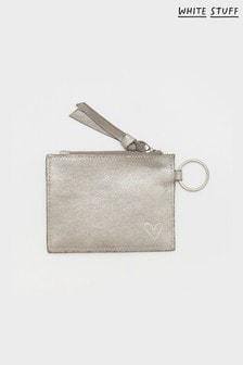 White Stuff Metallic Luna Leather Card Holder
