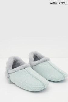 White Stuff Denim Reya Herringbone Closed Back Slippers