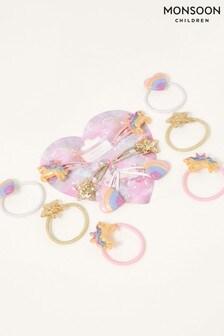 Monsoon Pink Dreamy Swirl Unicorn Hair Set